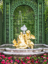 Fountain at castle linderhof an image of a in bavaria germany Stock Photos
