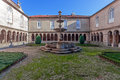 Fountain in the cloister of the s bento monastery santo tirso portugal benedictine order built gothic and baroque Stock Photo