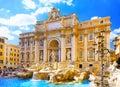 Fountain Di Trevi, Rome. Italië. Stock Fotografie
