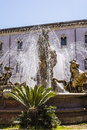 The fountain of diana in syracuse view Royalty Free Stock Images