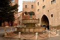 Fountain, Fabriano Stock Image