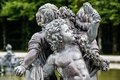 Fountain figures in front of castle herrenchiemsee bavaria germany Royalty Free Stock Photography