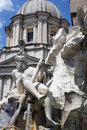 Fountain of the four rivers piazza navona rome italy in Stock Photography