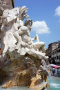 Fountain of the four rivers piazza navona rome italy in Royalty Free Stock Image