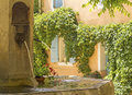 Fountain in french village. Provence. Royalty Free Stock Photo