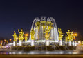 Fountain Friendship of nations at ENEA in Moscow. Russia. Royalty Free Stock Photo