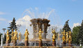 Fountain Friendship of Nations-- VDNKH (All-Russia Exhibition Centre), Moscow, Russia Royalty Free Stock Photo