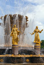 Fountain friendship of the people moscow in vdnh exhibition in Stock Images