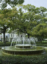 Fountain in front of the atomic bomb dome hiroshima japan peaceful Stock Photos