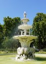 The fountain in front of the royal exhibition building showing on southern or carlton gardens side melbourne victoria australia Royalty Free Stock Image