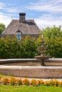 Fountain in a garden Royalty Free Stock Photography
