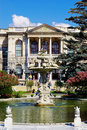 Fountain in Garden of Dolma Bahche Palace, Turkey Royalty Free Stock Photos