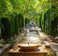 Fountain in the gardens of Almudaina - Palma de Mallorca, Spain Royalty Free Stock Photo