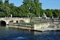 Fountain Gardens Nimes - Jardins de la Fontaine Royalty Free Stock Photo