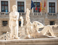Fountain of goddess diana palermo mcu section the marble dedicated to the in piazza pretoria known as the shame a work Stock Photo