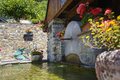 Fountain of Graihen village close to Saint Lary Soulan, France Royalty Free Stock Photo