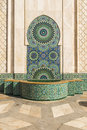 Fountain of hassan ii mosque one the beautiful fountains adorning the in casablanca Royalty Free Stock Photography