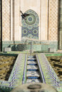 Fountain of hassan ii one the beautiful fountains in the mosque Stock Photo