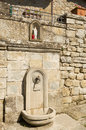 The fountain of holy water in castel san niccolo tuscany italy Royalty Free Stock Photos