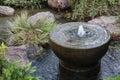Fountain in japanese garden in monte carlo monaco Royalty Free Stock Photos