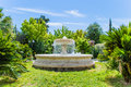 Fountain in kellithea park sunny day Royalty Free Stock Images