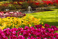 Fountain in the Keukenhof park Royalty Free Stock Photo
