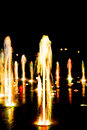 Fountain lights of the at night Stock Photos