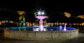 Fountain lights in praia cape verde Royalty Free Stock Images