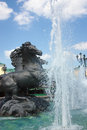 Fountain at the Manege square,Moscow,Russia Royalty Free Stock Photography