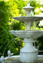 Fountain multi tiered decorative in the garden Royalty Free Stock Images