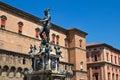 Fountain of Neptune. Bologna. Royalty Free Stock Photo