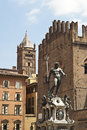 Fountain of neptune in bologna italy Royalty Free Stock Photography