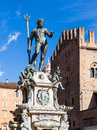Fountain of Neptune in center of Bologna city Royalty Free Stock Photo