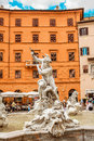 Fountain of neptune the fontana del nettuno is a in rome italy located at the north end the piazza navona it was once Royalty Free Stock Image
