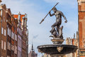 Fountain of neptune the old town in gdansk poland famous at dlugi targ square Royalty Free Stock Images