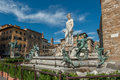 Fountain of neptune on piazza della signoria in florence marble Royalty Free Stock Photos