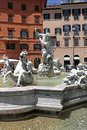 Fountain of neptune piazza navona rome italy is a city square in it is built on the site the stadium domitian built in st century Royalty Free Stock Photos