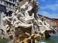 Fountain of Neptune, Piazza Navona, Rome, Italy Royalty Free Stock Photo