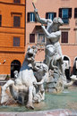 Fountain of Neptune in Rome, Italy. Royalty Free Stock Photos