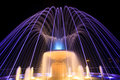 Fountain at night coloured in ciechocinek poland Royalty Free Stock Photo
