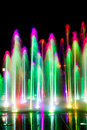 Fountain night full of colors Royalty Free Stock Image