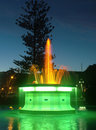 Fountain at night tom parker in napier new zealand lit up Stock Image