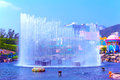 Fountain at ocean park hong kong beautiful in front of aqua city Stock Image