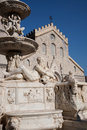 The fountain of Orione in Messina: details Royalty Free Stock Photos