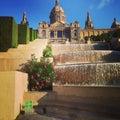 Fountain palace holiday barcelona vacation Stock Photo