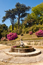 Fountain in Palacio de Cristal Gardens, Porto, Portugal. Royalty Free Stock Photo