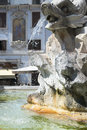 Fountain of the pantheon fontana del was commissioned by pope gregory xiii and is located in piazza della rotonda Royalty Free Stock Image