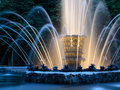 Fountain in the park at evening Stock Photography