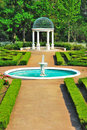 Fountain and pavilion Royalty Free Stock Photo