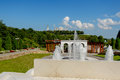 Fountain and pavilion in the park Royalty Free Stock Photo
